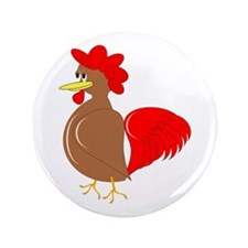 """Rooster Design 3.5"""" Button (100 pack)"""