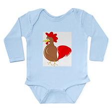 Rooster Design Long Sleeve Infant Bodysuit