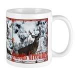 Buck deer in snow Mug