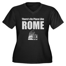 No Place Like Rome (silver) Women's Plus Size V-Ne
