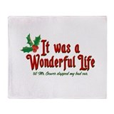 It Was a Wonderful Life Throw Blanket