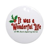 It Was a Wonderful Life Ornament (Round)
