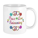Peace Love Swimming Small Mug