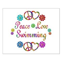 Peace Love Swimming Posters