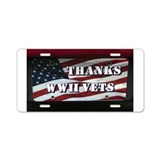 WWII License Plate Aluminum License Plate