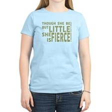 She is Fierce - Stamped Olive T-Shirt