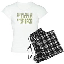 She is Fierce - Stamped Olive pajamas