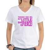 She is Fierce - Stamped Pink Shirt