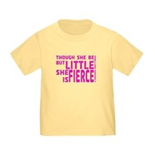She is Fierce - Stamped Pink T