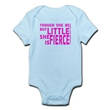 She is Fierce - Stamped Pink Infant Bodysuit
