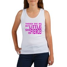 She is Fierce - Stamped Pink Women's Tank Top