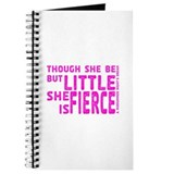 She is Fierce - Stamped Pink Journal