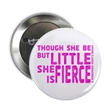 "She is Fierce - Stamped Pink 2.25"" Button (100 pac"