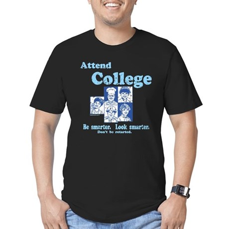 Attend College Mens Fitted Dark T-Shirt