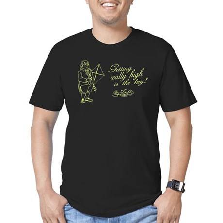 Ben Franklin Secret Mens Fitted Dark T-Shirt