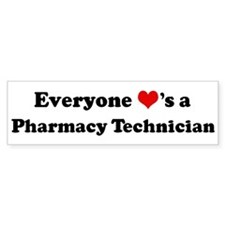 Loves a Pharmacy Technician Bumper Bumper Sticker