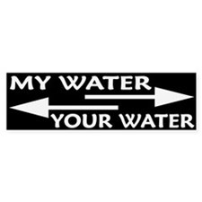 MY WATER - YOUR WATER Bumper Sticker