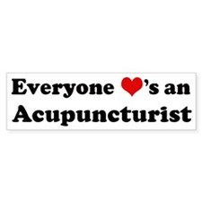 Loves a Acupuncturist Bumper Bumper Sticker
