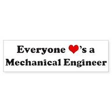 Loves a Mechanical Engineer Bumper Bumper Sticker