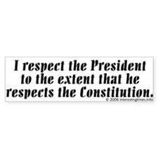 respect Bumper Bumper Sticker