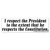 respect Bumper Car Sticker
