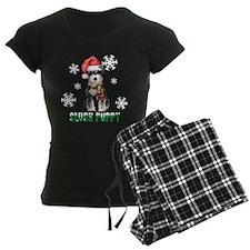 Holiday Miniature Schnauzer pajamas