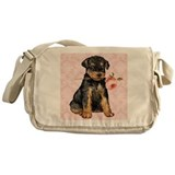 Airedale Rose Messenger Bag