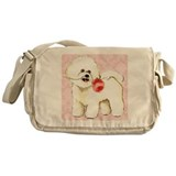 Bichon Rose Messenger Bag
