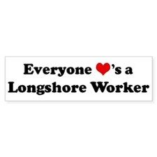 Loves a Longshore Worker Bumper Bumper Sticker