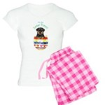 Easter Rottweiler Women's Light Pajamas