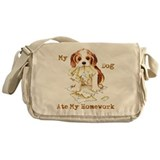 Cavalier Ate Homework Messenger Bag