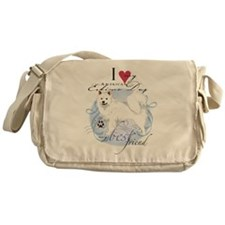 American Eskimo Messenger Bag