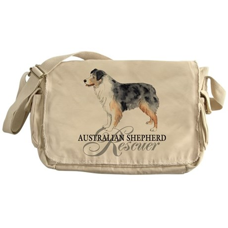 Australian Shepherd Rescue Messenger Bag