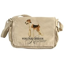 Wire Fox Terrier Rescue Messenger Bag