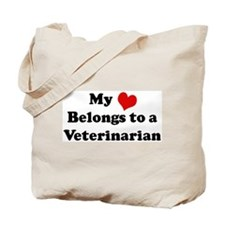 Heart Belongs: Veterinarian Tote Bag