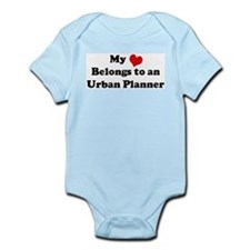 Heart Belongs: Urban Planner Infant Creeper
