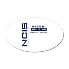 NCIS Gibbs Rule #15 22x14 Oval Wall Peel