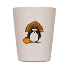 Indian Chief Penguin Shot Glass