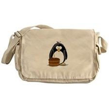 Chocolate Birthday Cake Pengu Messenger Bag