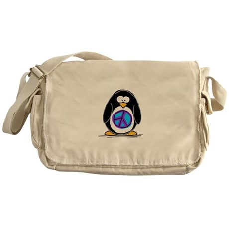 Peace penguin Messenger Bag