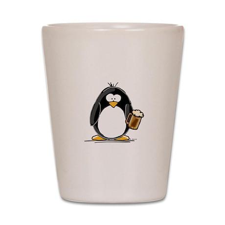 Beer Drinking Penguin Shot Glass