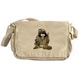 Miner Penguin Messenger Bag