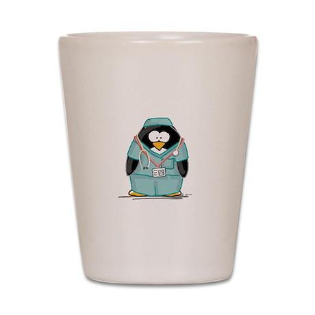 Surgeon Penguin Shot Glass