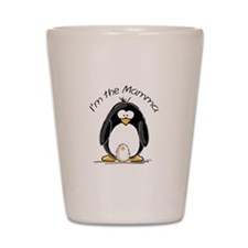 I am the Mamma Penguin Shot Glass