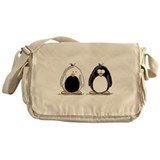 Backwards Penguin Messenger Bag