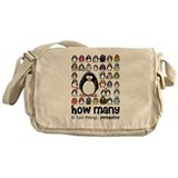too many penguins Messenger Bag
