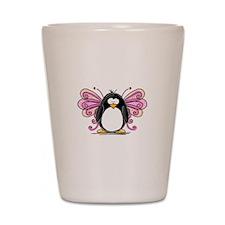 Pink Fairy Penguin Shot Glass