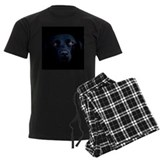 Black labrador Men's Pajamas Dark