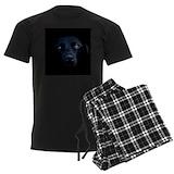 Black labrador Men's Pajamas Dark