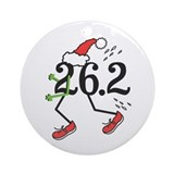 Holiday 26.2 Marathoner Ornament (Round)